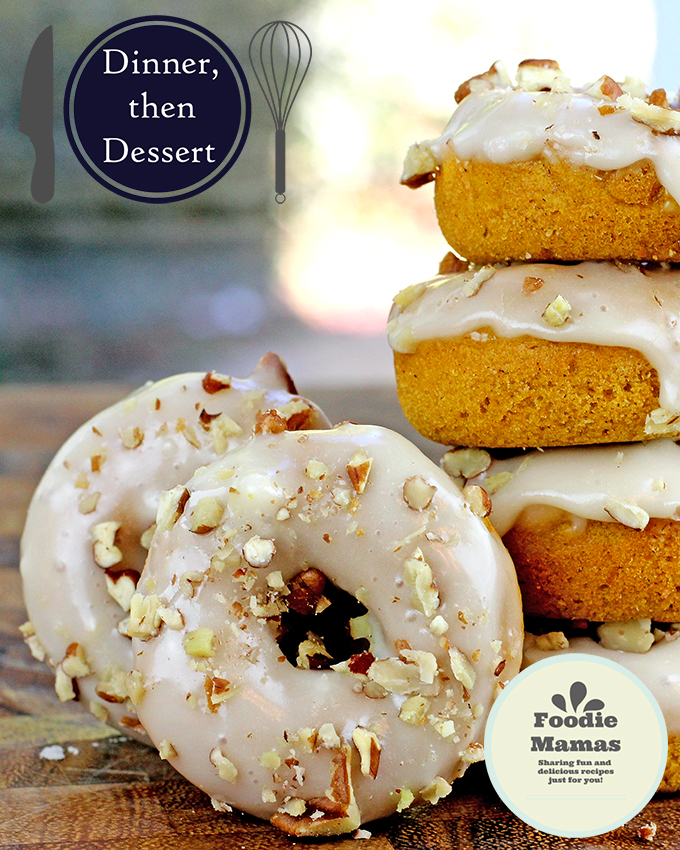 Baked Mini Pumpkin Pecan Donuts | www.dinnerthendessert.com |