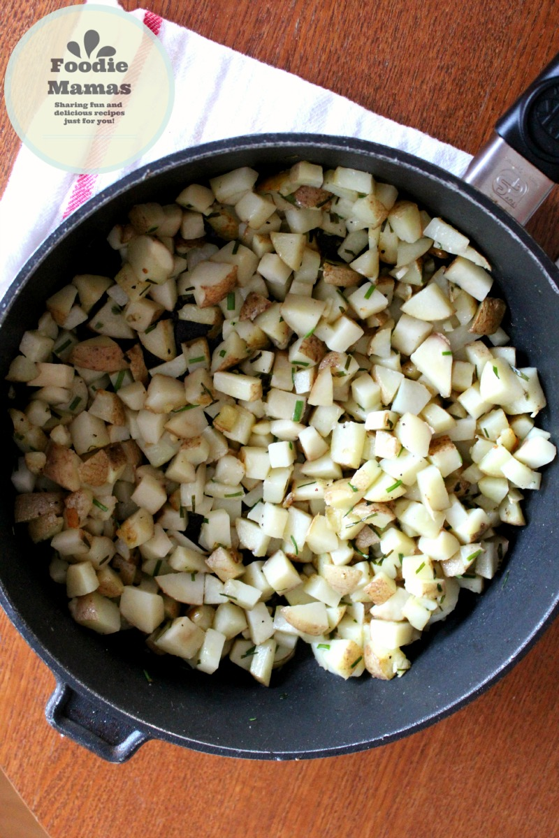 Chive and Garlic Brunch Potatoes