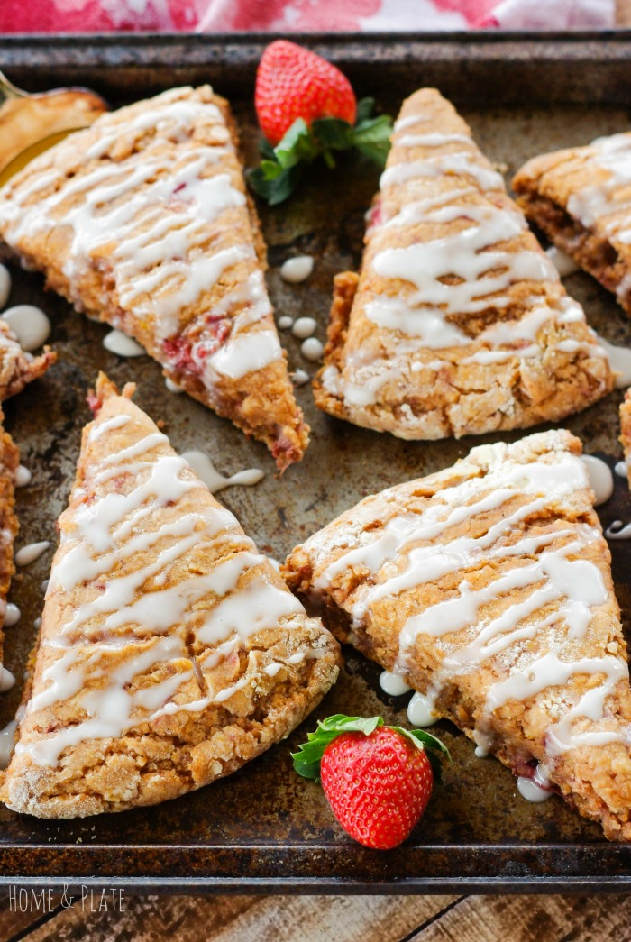 Whole-Wheat Strawberry Ricotta Scones with a Lemon Glaze — Home ...