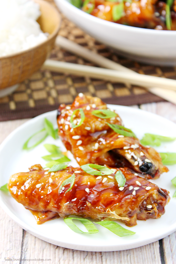 Asian Sticky Wings | Love Bakes Good Cakes