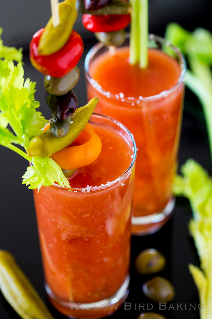 Bloody Caesar with Veggie Skewer | Willow Bird Baking