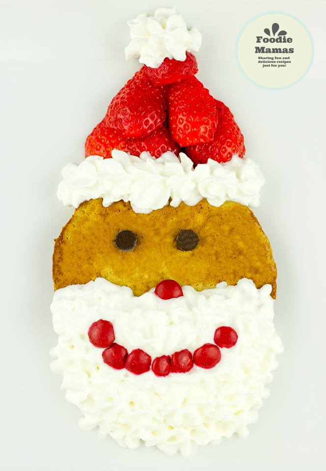 Strawberry Gingerbread Pancake Santas
