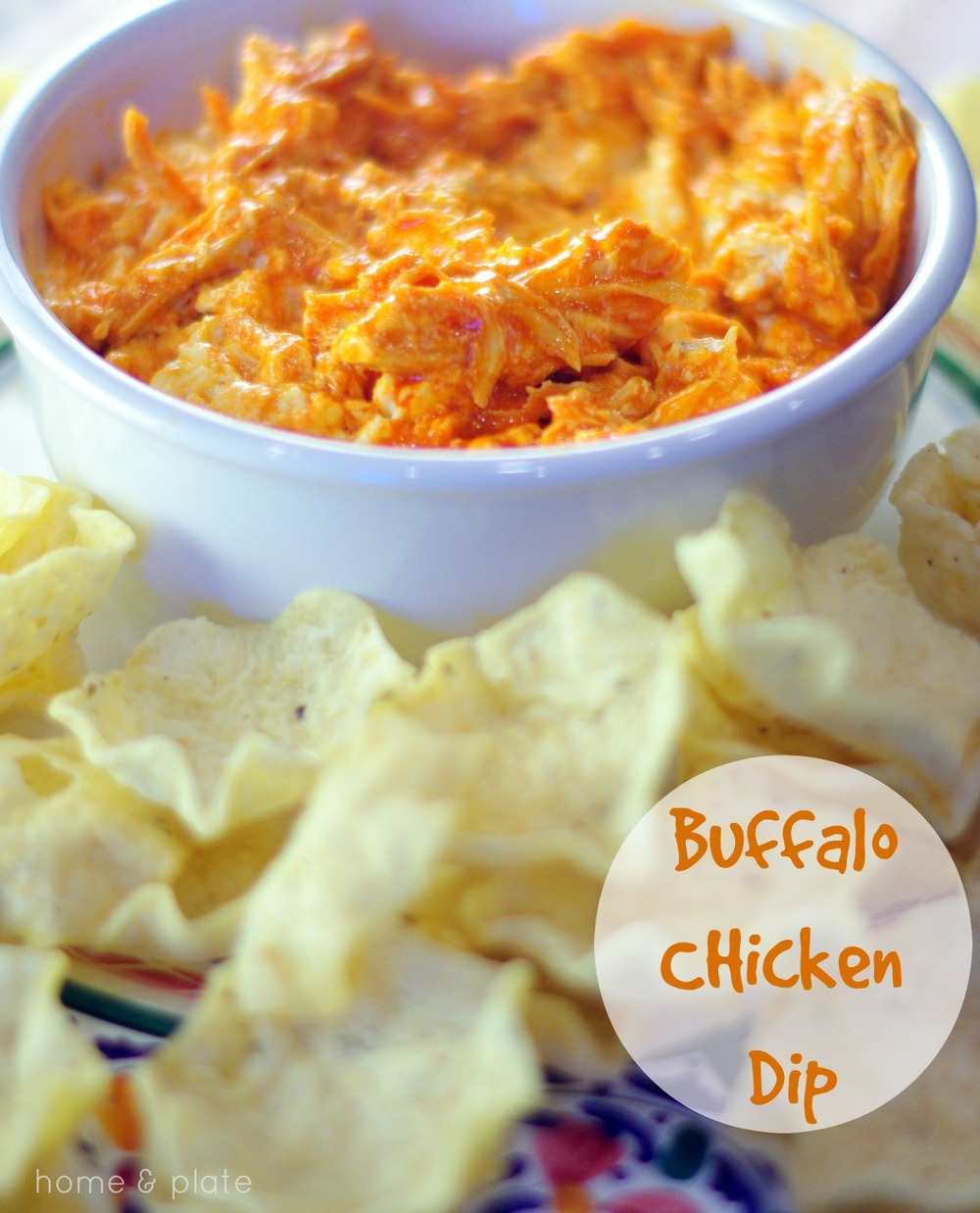 Buffalo Chicken Dip | Home & Plate | www.homeandplate.com | The perfect dip for parties or game day!