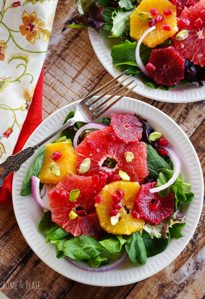 Winter Sweet Citrus Salad with Pomegranate & Pistachios