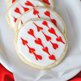 Iced Heart Sugar Cookies