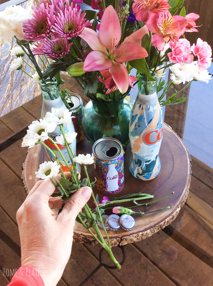 stunning-floral-centerpiece-featuring-Diet-Coke-Its-Mine-glass-bottles (18).jpg