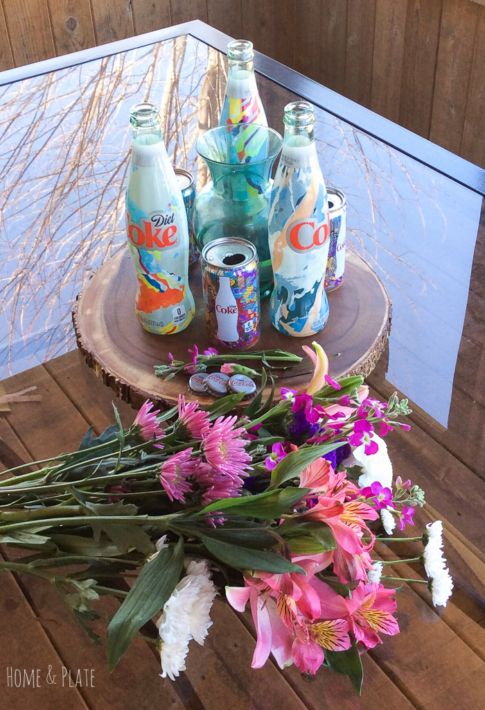 stunning-floral-centerpiece-featuring-Diet-Coke-Its-Mine-glass-bottles (23).jpg