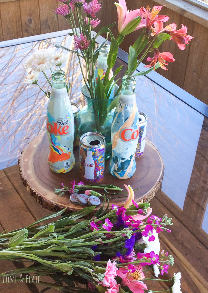 stunning-floral-centerpiece-featuring-Diet-Coke-Its-Mine-glass-bottles (24).jpg