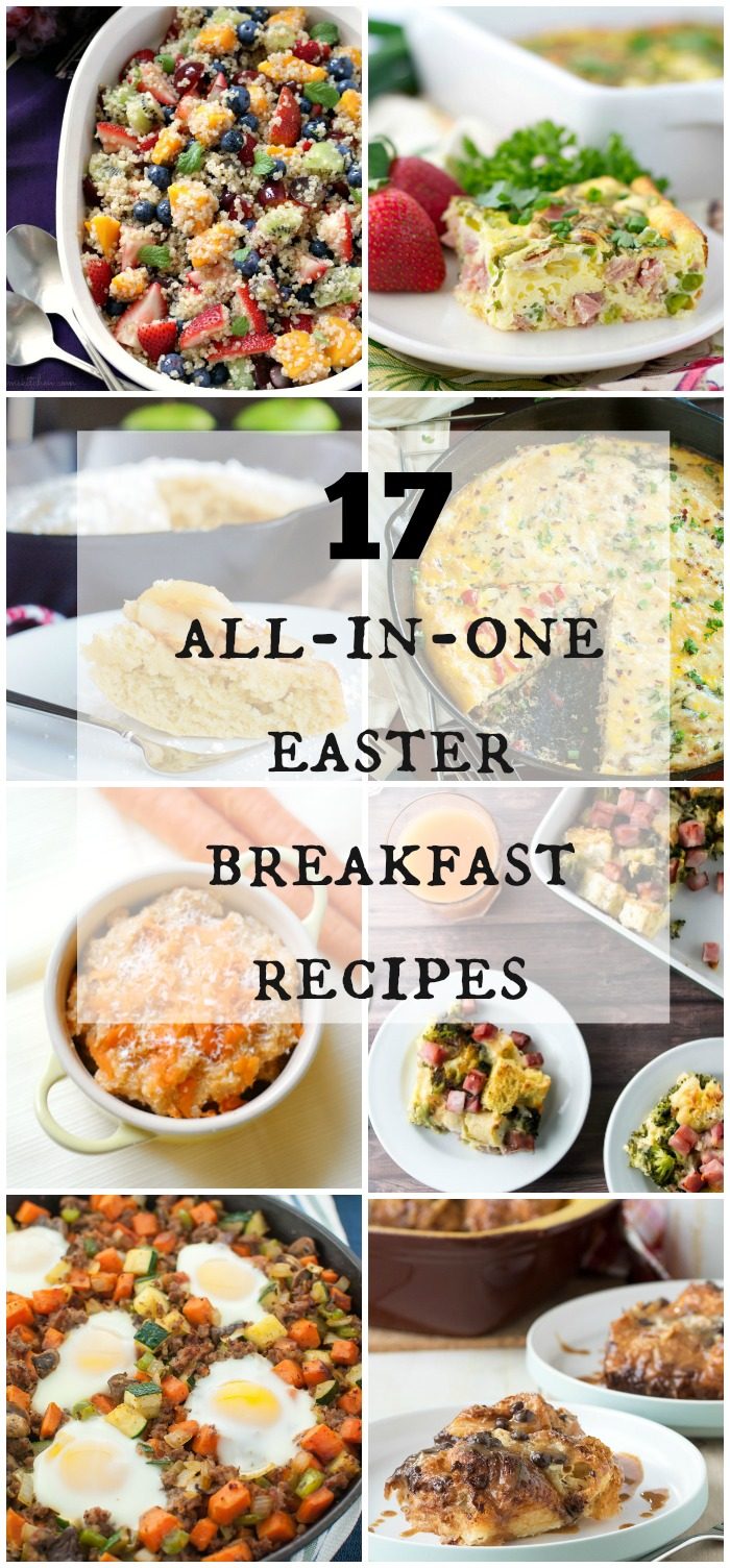 17 All-In-One Easter Breakfast Recipes | www.homeandplate.com | Keep kitchen time to a minimum Easter morning by serving up an all-in-one breakfast.