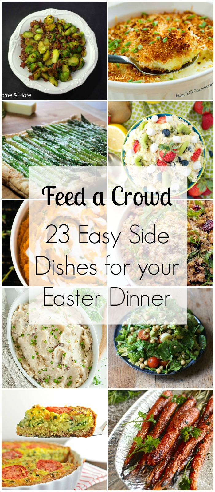 23 Easy Side Dishes for your Easter Dinner - Feed a Crowd | www.homeandplate.com | Perfect sides for your Easter Dinner.