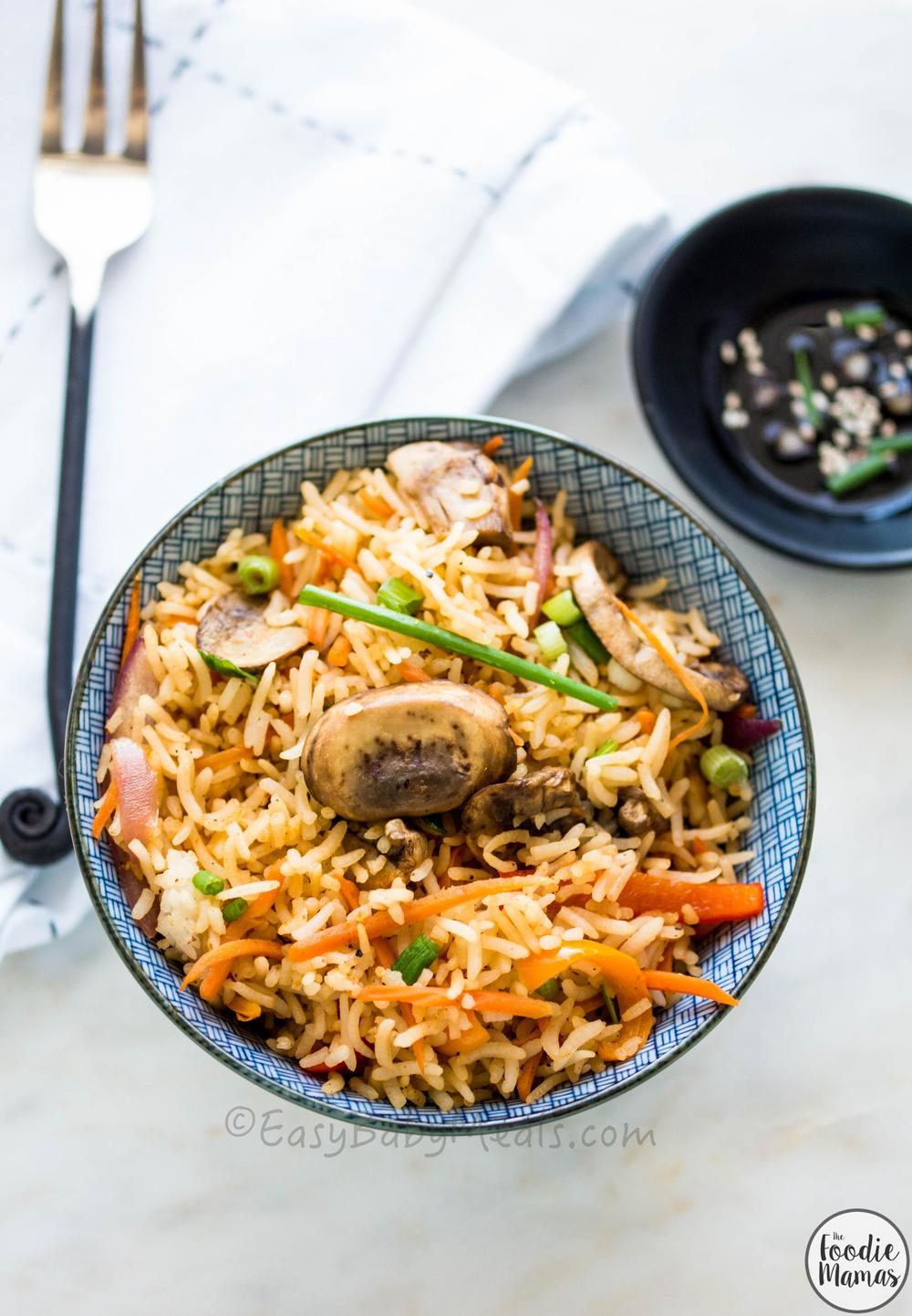 Quick Mushroom Fried Rice