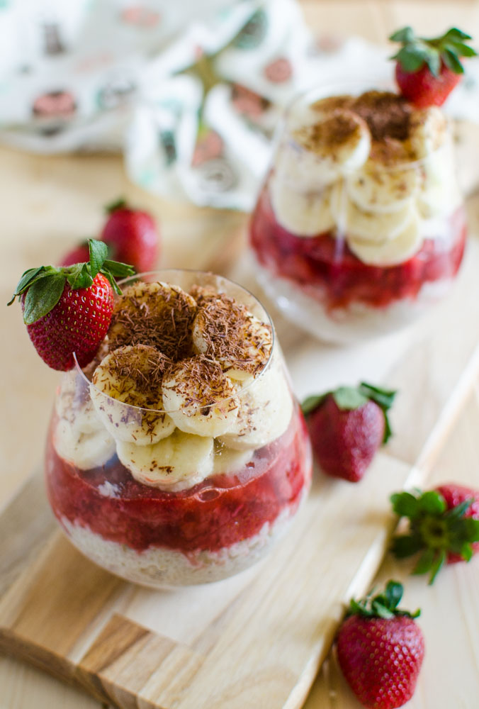 Steel-cut Oatmeal Pudding With Strawberries