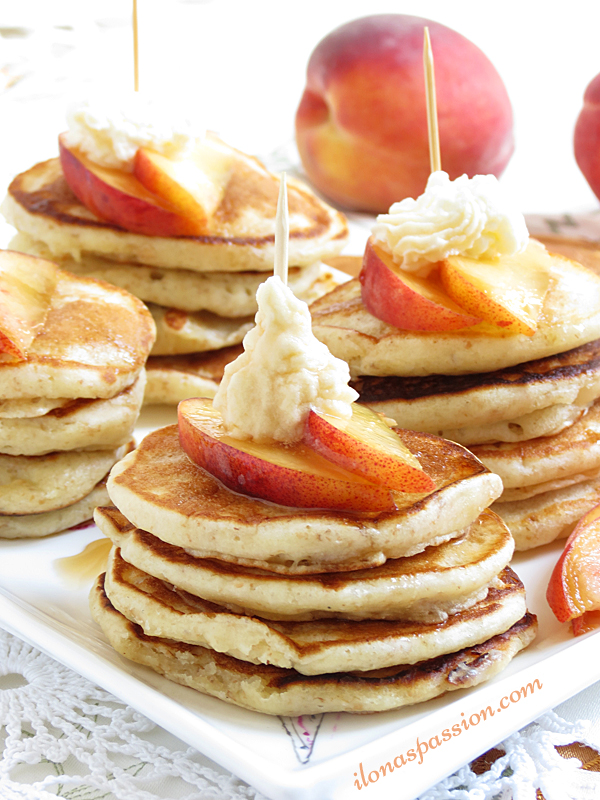 Peaches and Cream Mini Pancakes