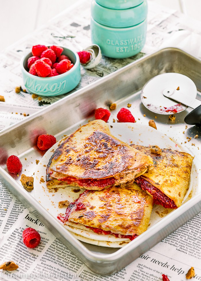 Sweet Raspberry Chocolate Chip Quesadilla