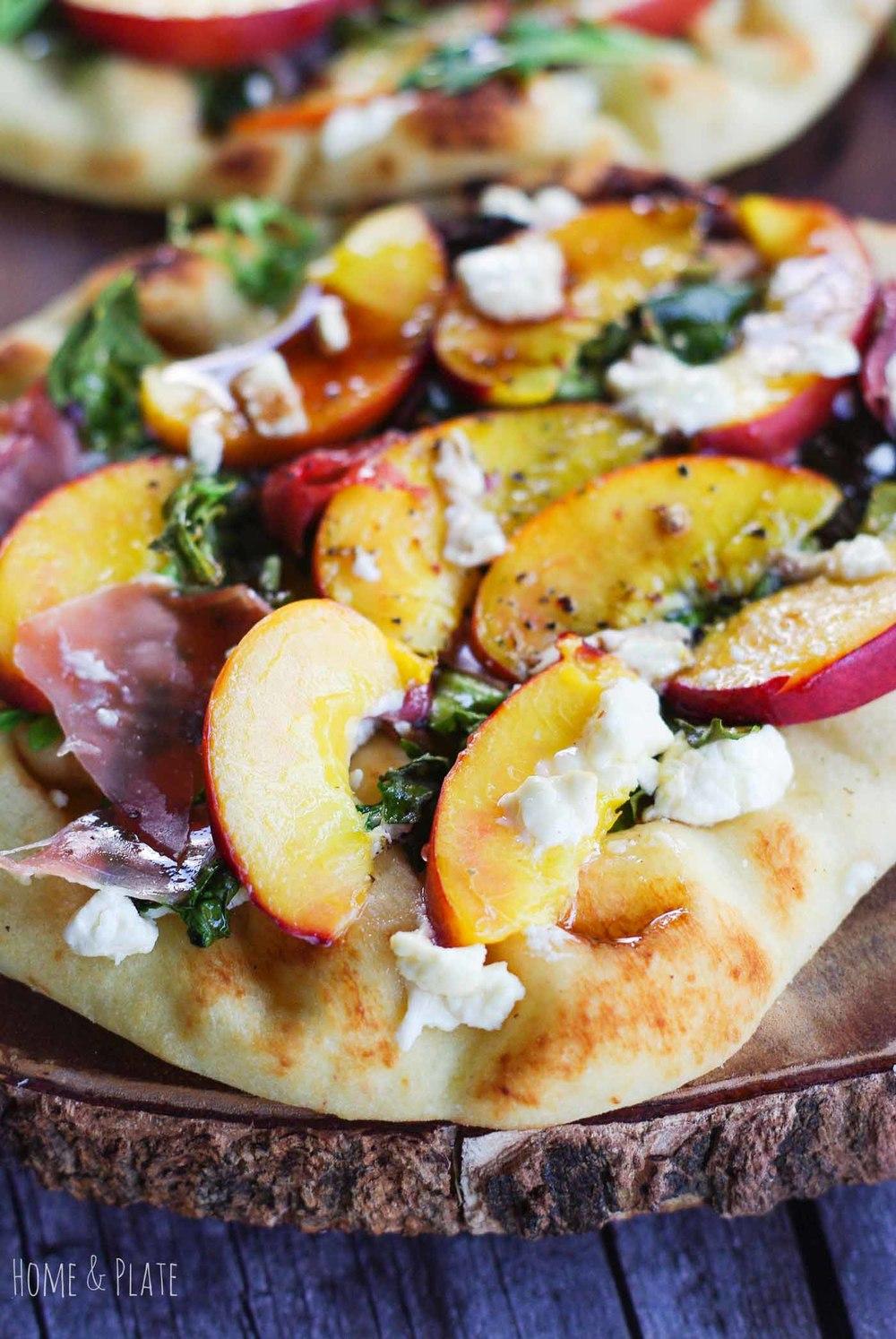 Nectarine and Prosciutto Pizza