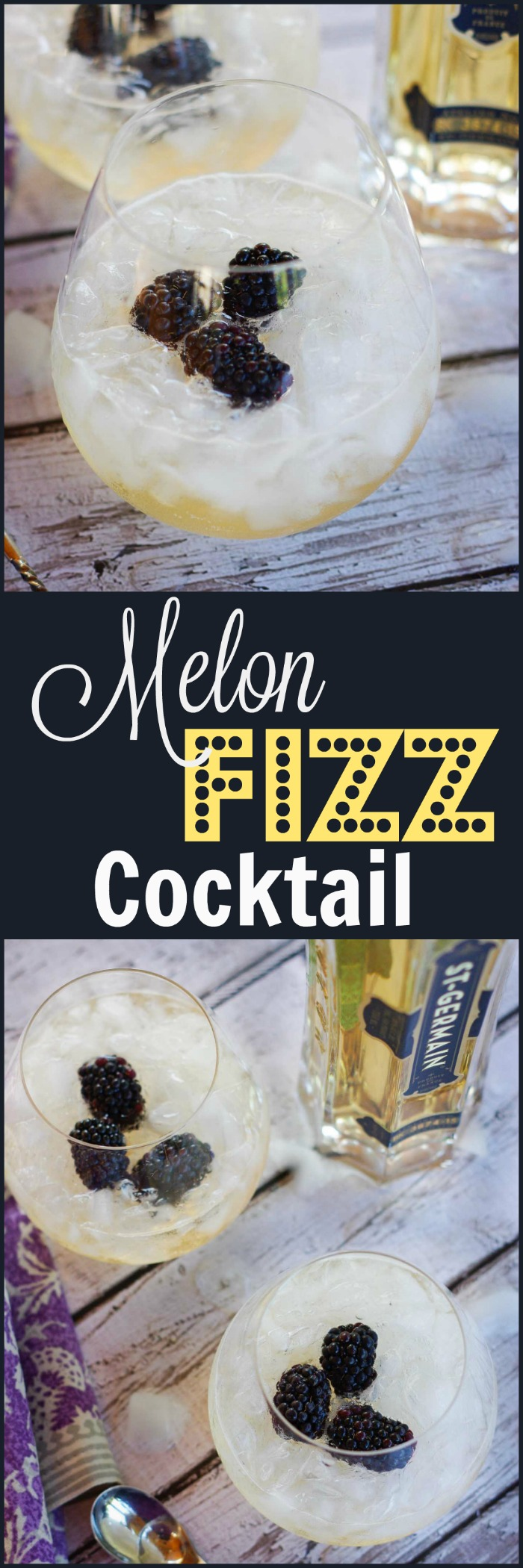 Melon Fizz Cocktail | www.homeandplate.come | Hints of sweet melon flavored vodka swirled togetherness with fizzy ginger ale in a glass of crushed ice makes the perfect summer cocktail.