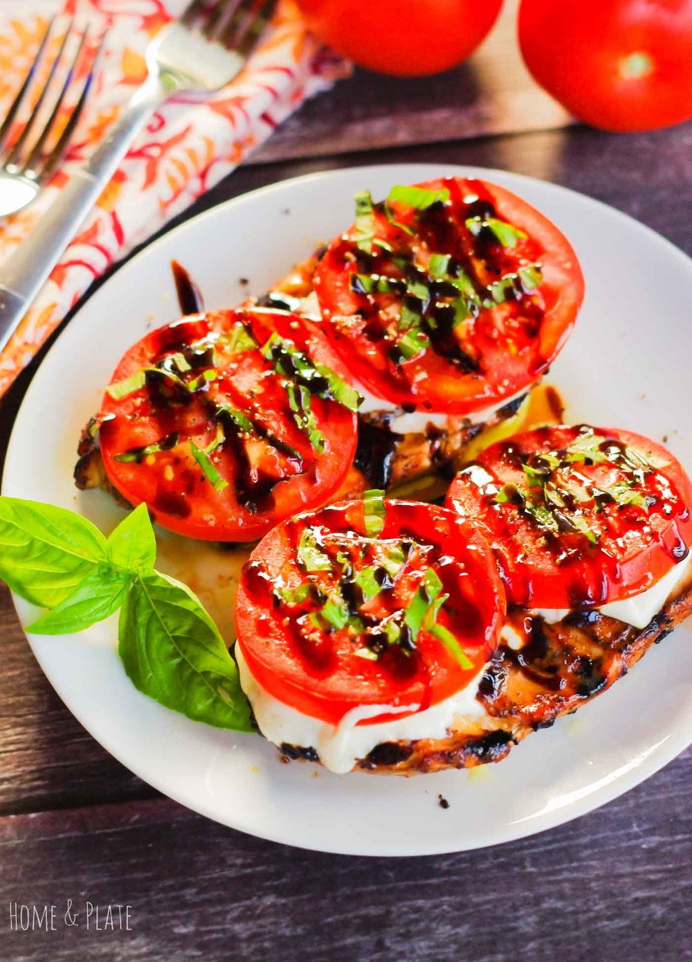 Balsamic Grilled Caprese Chicken Home Plate