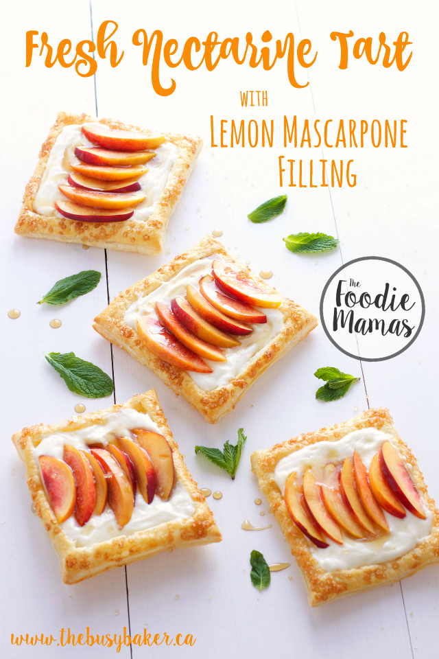 Fresh Nectarine Tart with Lemon Marscarpone Filling