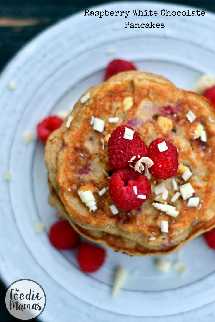 Raspberry White Chocolate Pancakes