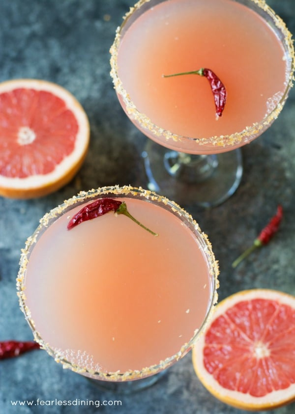 Pink Grapefruit Margaritas | Fearless Dining