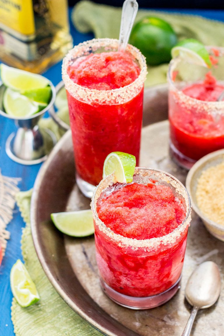 Strawberry Margarita Granita | Sugar Spun Run