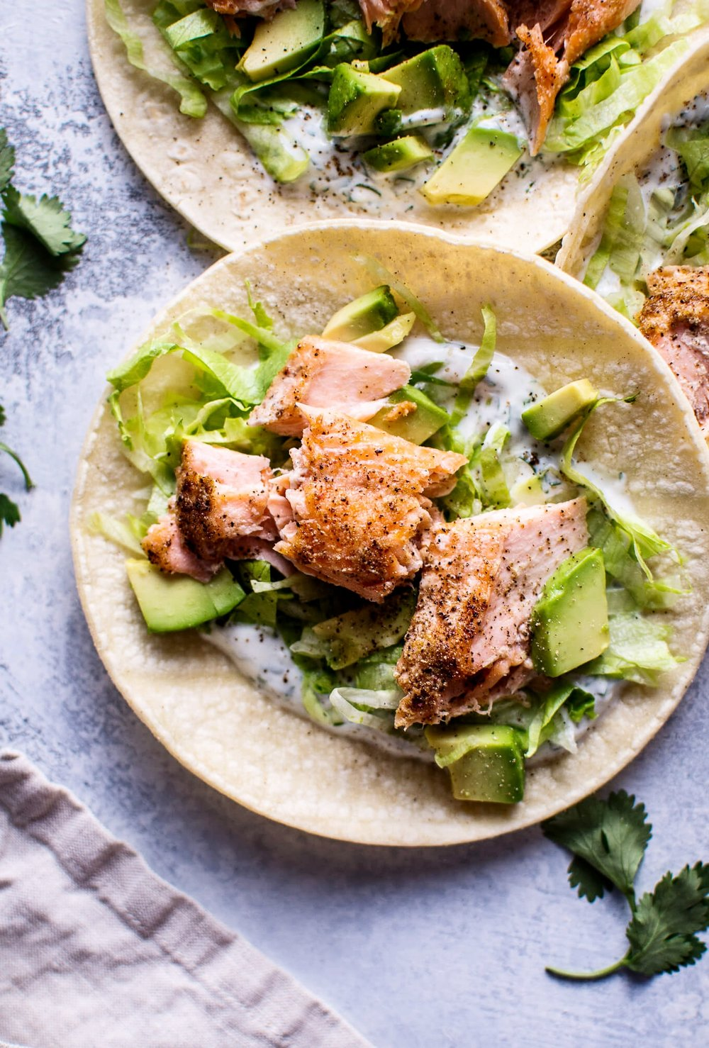 Healthy Baked Salmon Tacos | Salt & Lavender