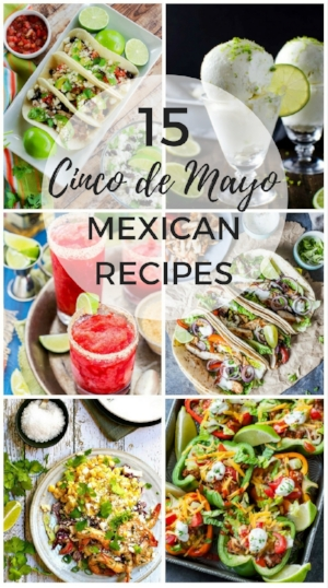 Cinco de Mayo Fiesta – 15 Tapas, Tacos and other Mexican Recipes | www.homeandplate.com | Celebrate Cinco de Mayo with the 15 of the best Mexican recipes from your favorite bloggers.