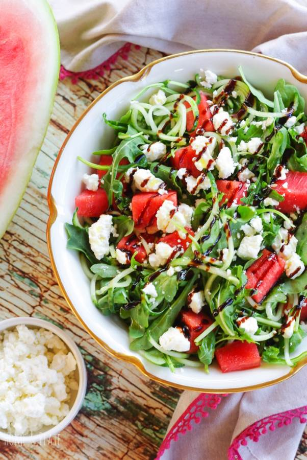 Arugula Salad with Watermelon and Feta