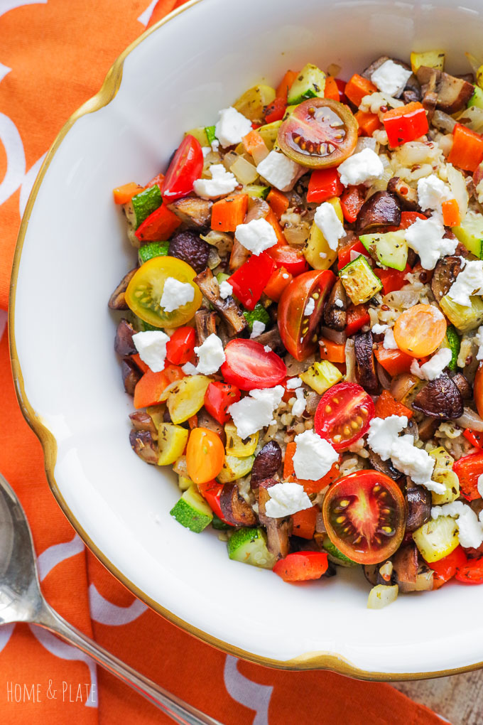 Ancient Grains Salad with Roasted Vegetables - Home & Plate