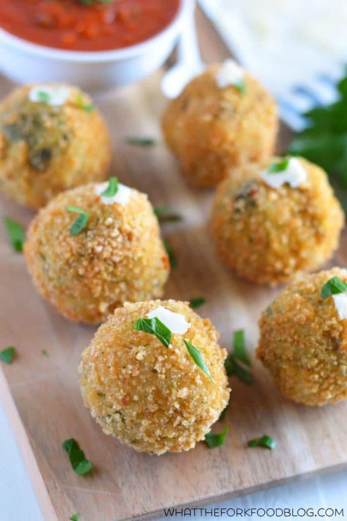 Spinach and Artichoke Risotto Balls