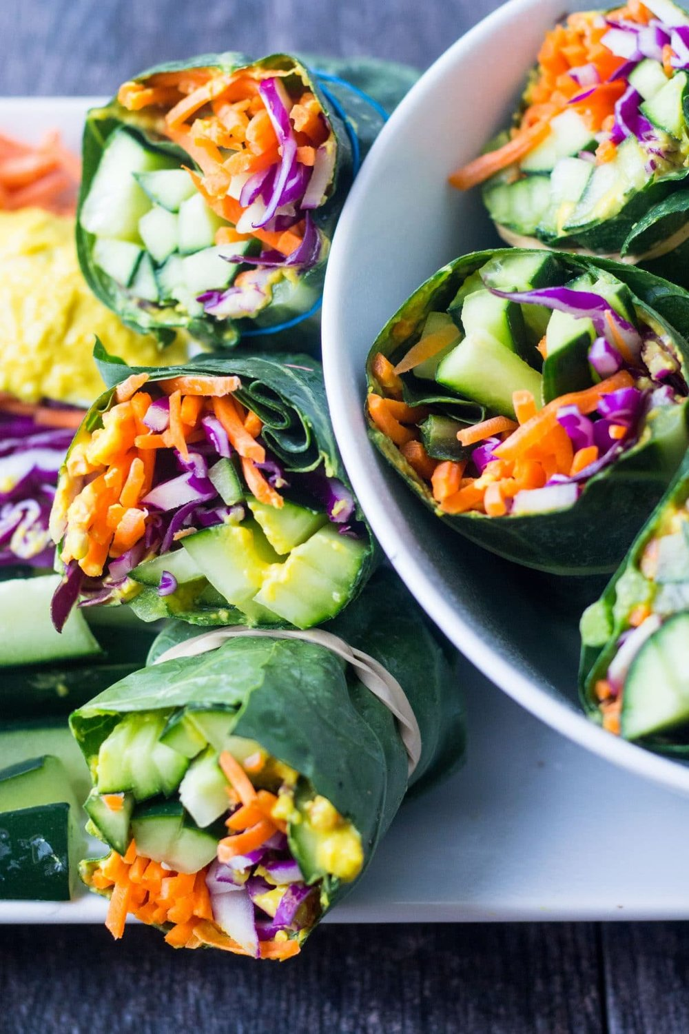 Really Easy Meal Prep Collard Greens Wraps