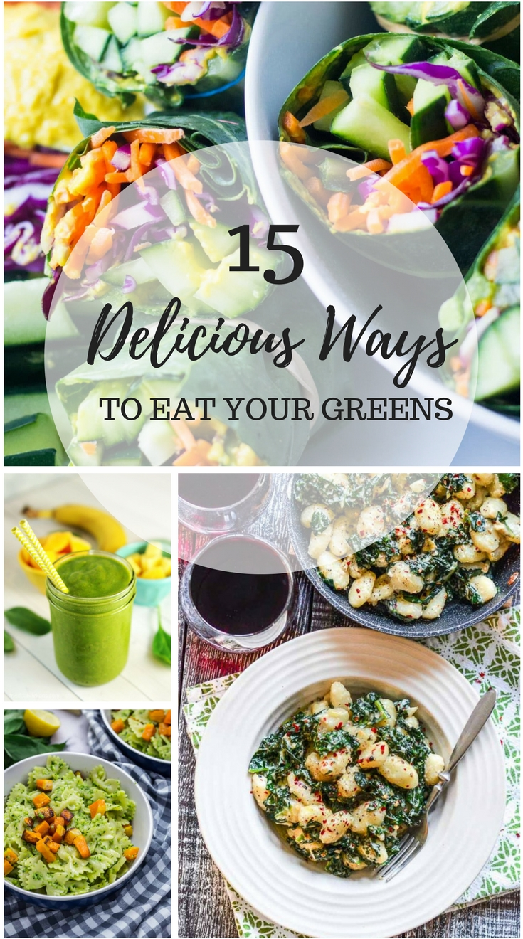 Delicious ways to eat your greens (when you just don't want salad) | www.homeandplate.com |  15 easy and delicious recipes to help you eat your greens. #greens #greensrecipes