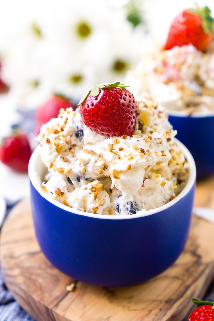 Red, White & Blue Ambrosia Salad