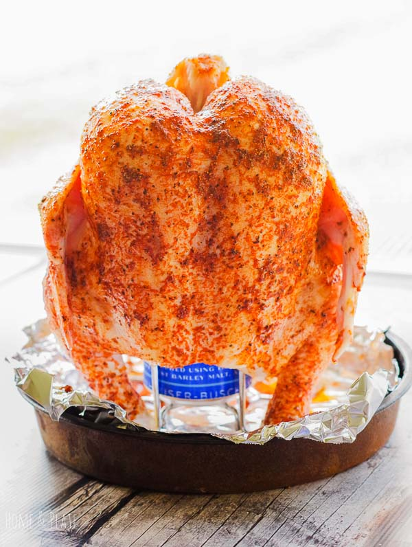Basic Barbeque Rub | Home & Plate | www.homeandplate.com |  Add homemade barbecue rub to beer can chicken and throw it on the grill.