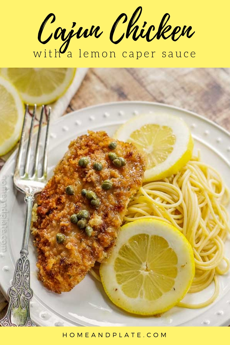 Cajun Chicken in a Lemon Caper Sauce | Cajun chicken with lemon and capers is similar to chicken Piccata, but this 30-minute dinner pairs a little creole heat with the tangy taste of lemon.