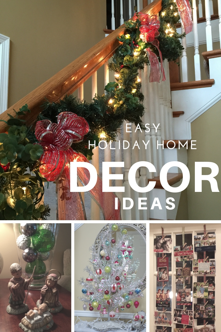 Easy Holiday Home Decor Ideas | Get creative and dress up your home for the holidays using festive and inexpensive ways.