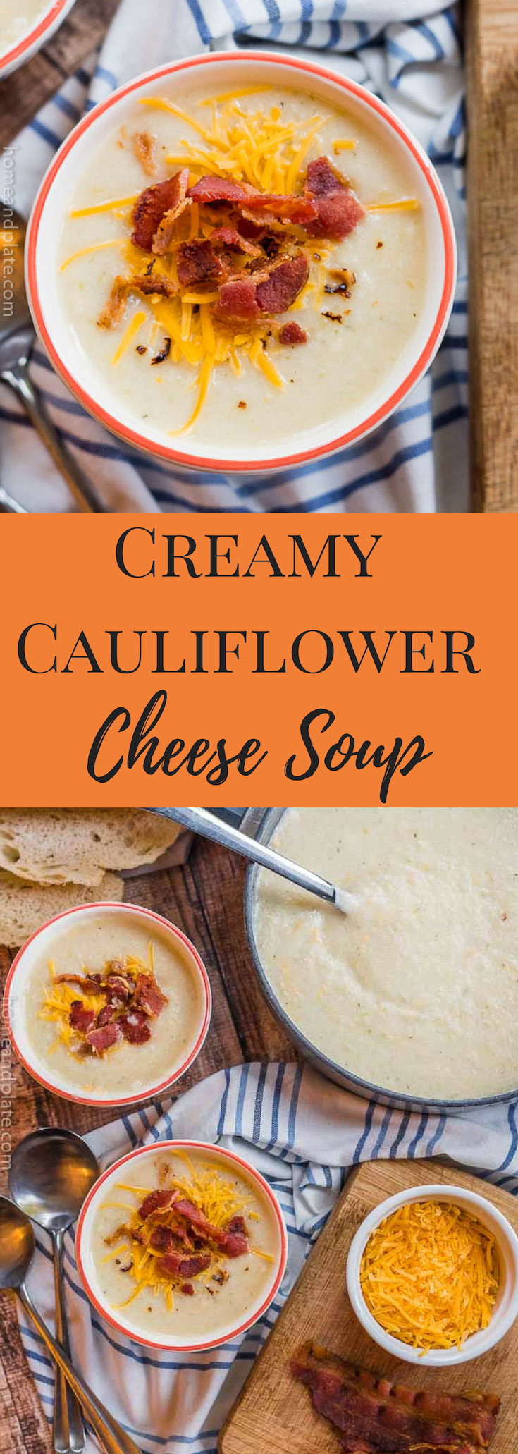 Creamy Cauliflower Cheese Soup | This loaded creamy cauliflower cheese soup is a healthy option that is full of flavor. #keto #lowcarb #cauliflowersoup