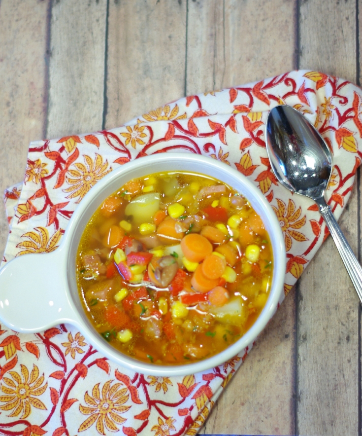 This delicious soup uses the leftover ham from your holiday dinner and is mixed together with lots of fresh vegetables.
