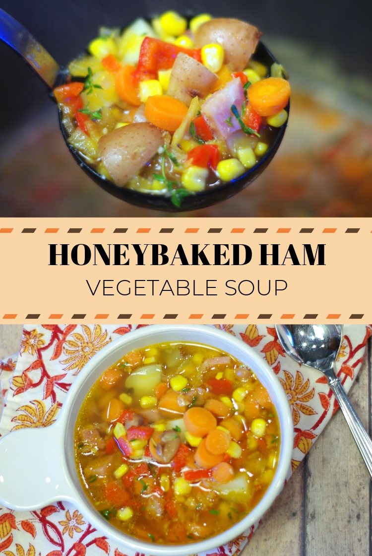 Honeybaked Ham Vegetable Soup | This delicious soup uses the leftover ham from your holiday dinner and is mixed together with lots of fresh vegetables.