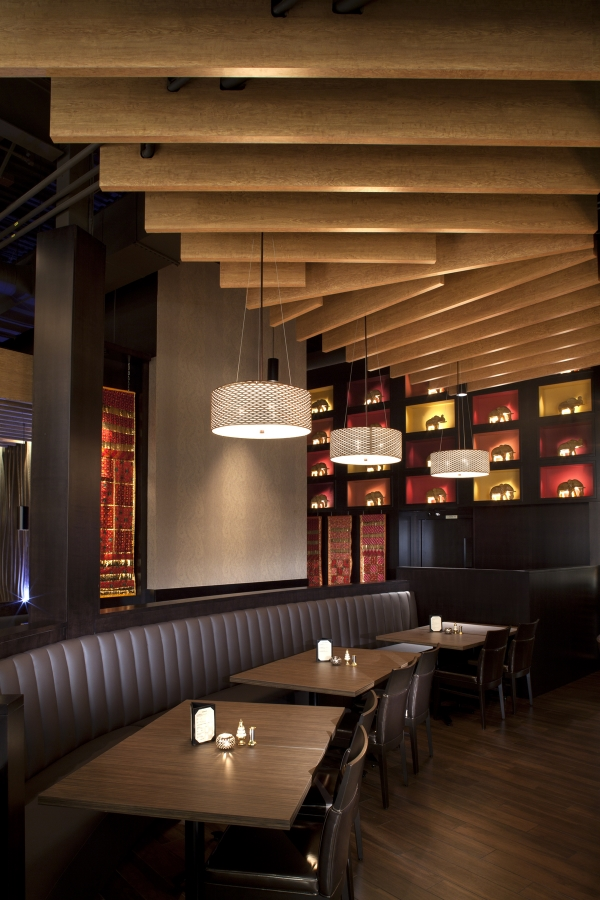 TastyIndianBistro_Bar Bench and Ceiling Slats.jpg