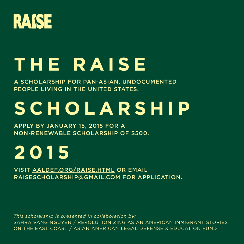 5 scholarships of $500 each will be awarded in March 2015