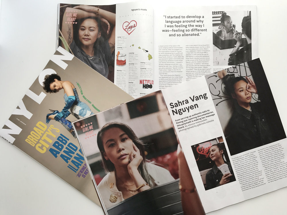 sahra vang nguyen nylon magazine print spread