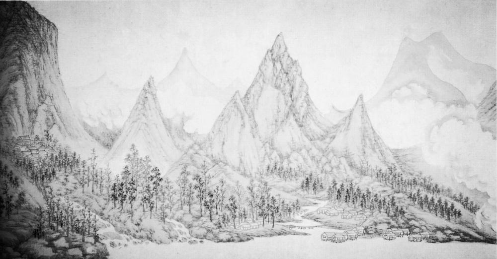 Landscape by Wu Bin (ca. 1610)