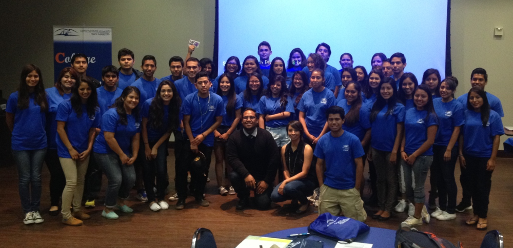Workshop for Cal State University San Marcos' summer CAMP program with Rolland Tizuela and Karla Corder