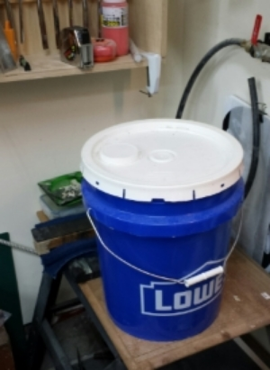 Nothing fancy here...just a plain old bucket.