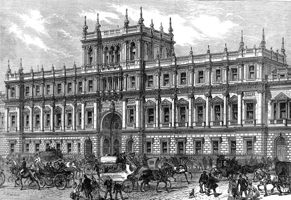 Burlington House - Home of the Royal Society from 1873 - 1967.