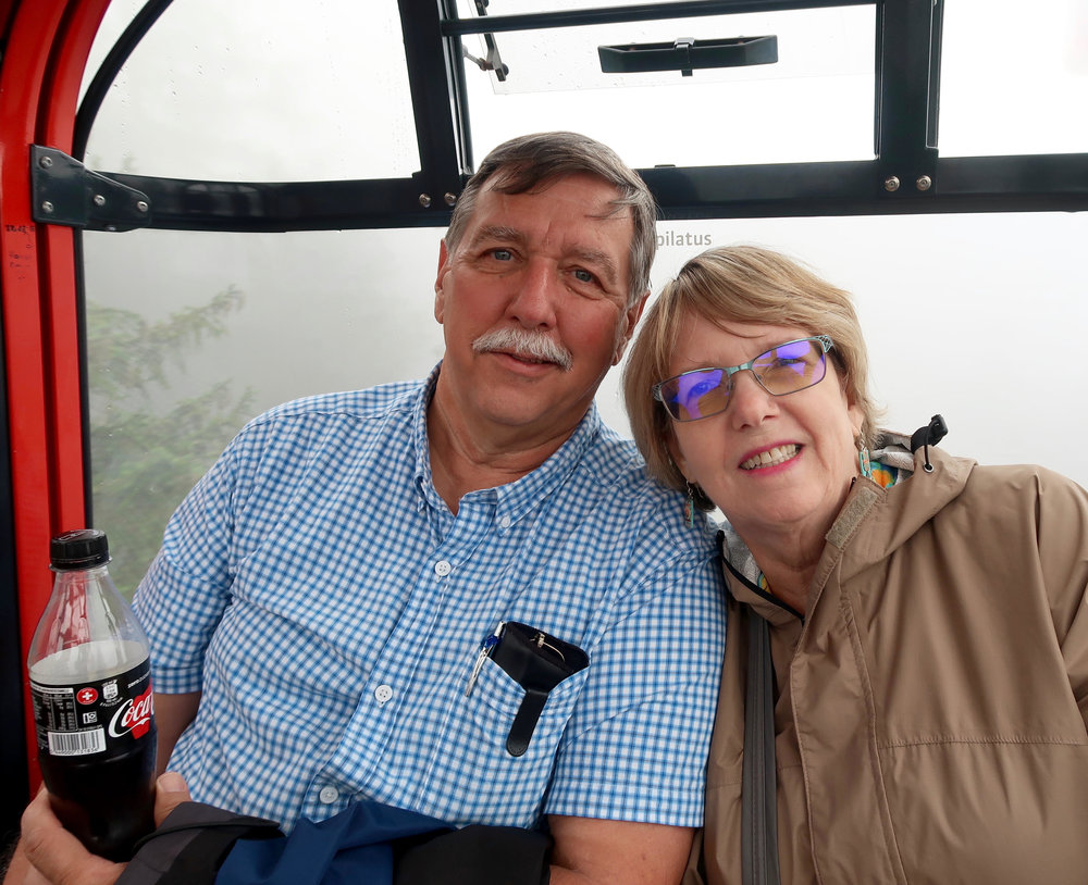 Leo and Jeanine in a gondola in Austria, September 2018