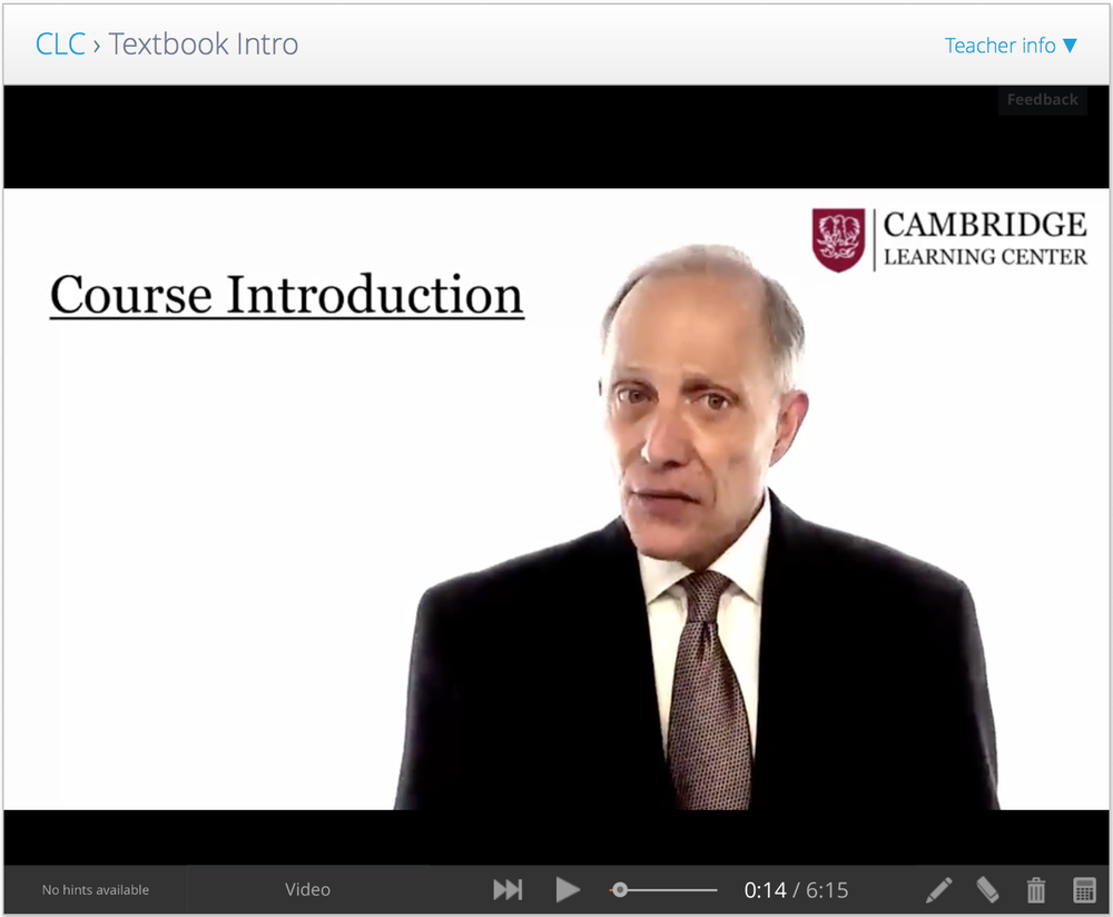 Cambridge Learning Center Course Introduction