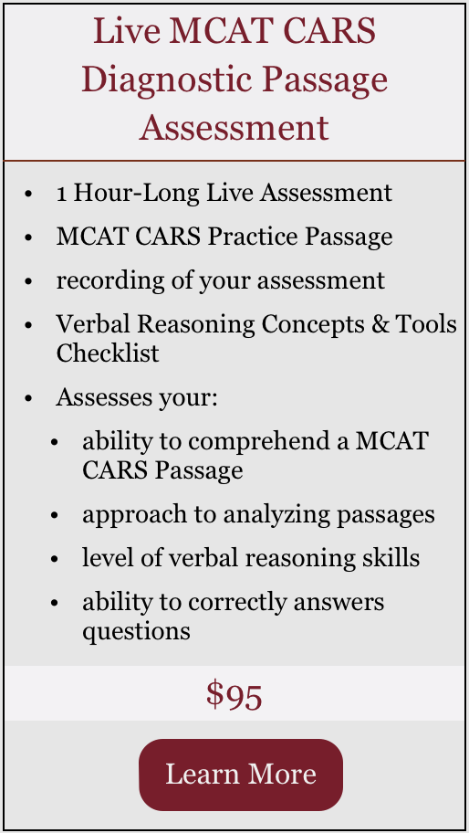 Live MCAT CARS Diagnostic Passage Assessment.png