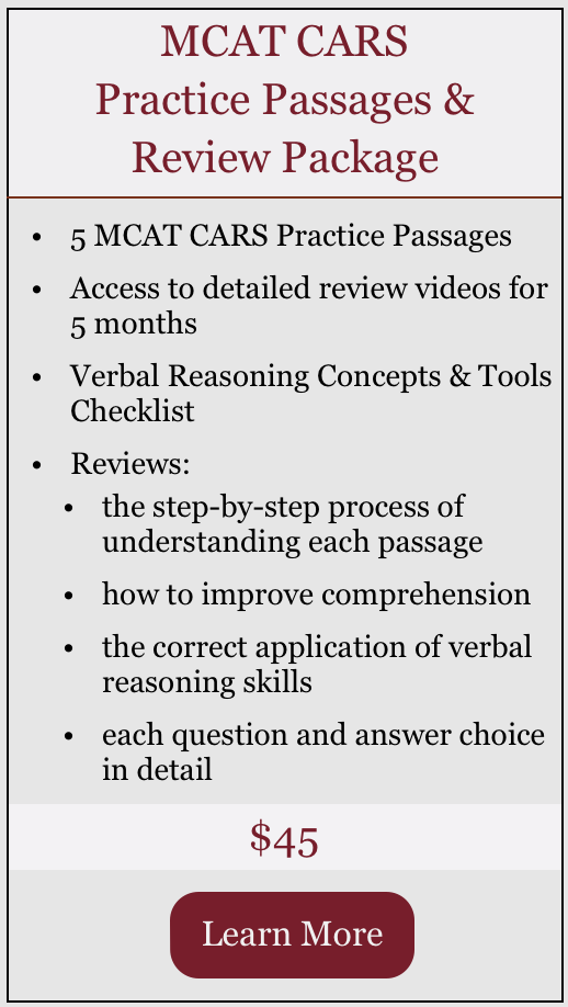 MCAT CARS Practice Passages & Review Package.png